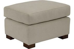 Suede ottoman 1