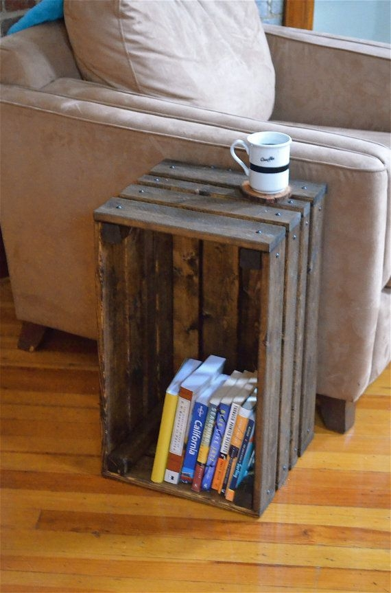 Crate End Table Foter