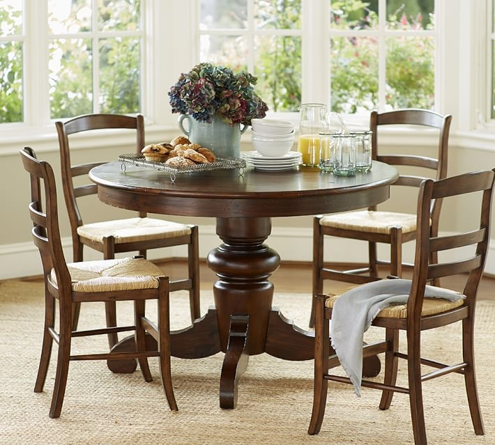 Tivoli round pedestal dining table