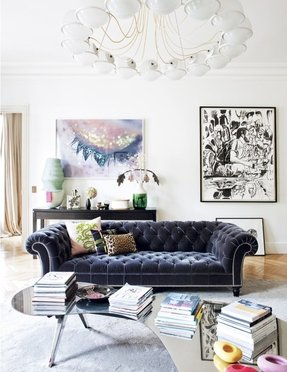 Tufted Sofa Living Room - Foter