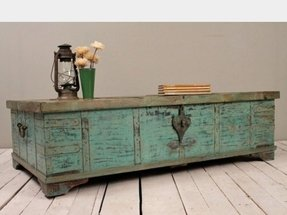 Turquoise green reclaimed salvaged