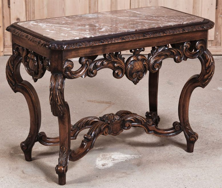 Delightful Victorian Marble Top Side Table