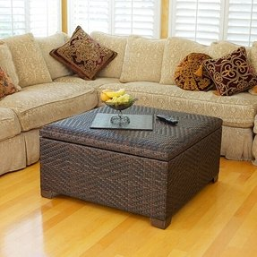 Miraculous Wicker Storage Ottomans Ideas On Foter Gmtry Best Dining Table And Chair Ideas Images Gmtryco