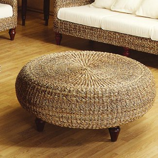 Wicker foot stools