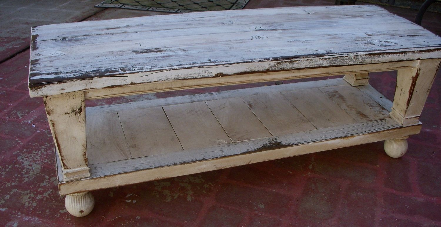 Wood coffee table reclaimed wooden