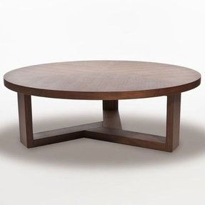 Wood Round Coffee Table 2