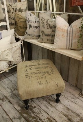 Wooden footstools