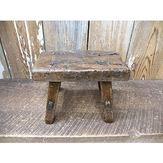 "Adorable Antique Refurbished Small 8"" X 5.5"" X 4"" Milking Foot Stool Farm Barn"