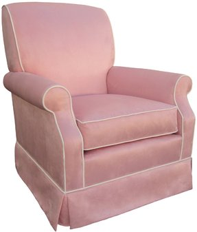 Angel Song Faux Suede - Pink Club Adult Rocker Gldier Chair - Foam Filled