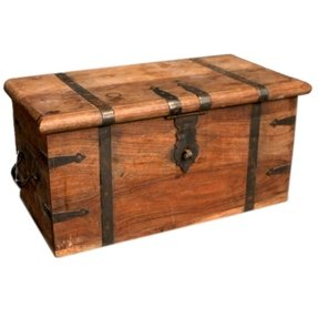 Antique Wooden Trunk 3
