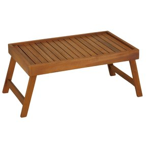 Bare Decor Coco Bed Tray Table in Solid Teak Wood