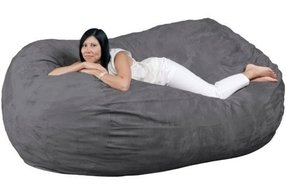 Bean Bag Chair Fugu Brand Grey - Extra Large 7'