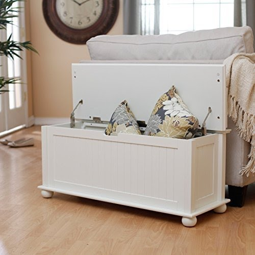Ordinaire Belham Living Belham Living Morgan Traditional Flip Top Indoor Storage Bench    Vanilla, White,
