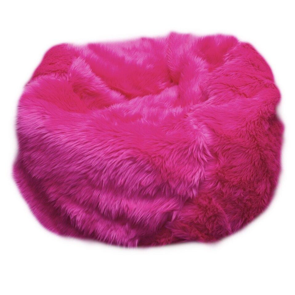 Blue Fuzzy Chair. Fur Bean Bag ...