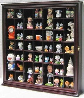 Collectible Display Case Wall Curio Cabinet Shadow Box, with glass door, CDSC03-CH