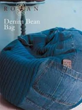 Denim bean bags