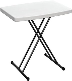 Duralight HDPE Personal Folding Table, 30-Inch, White Granite