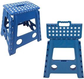 Easy Life Carry Folding Step Stool / Seat With Anti-Slip Surface 15 Inch For Kids Works Home - Blue