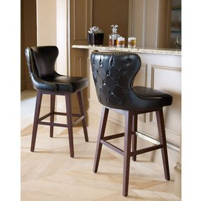 Black Leather Bar Stools With Backs Foter