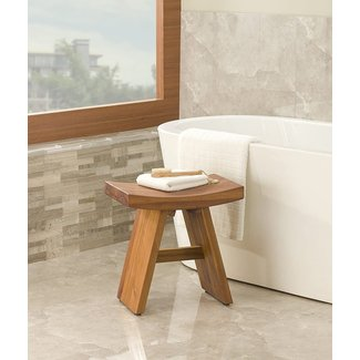 Floor Sample Classic Asia Teak Shower Stool-from the Asia Collection