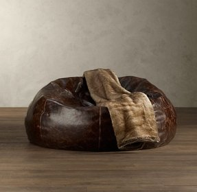 Leather bean bags 2