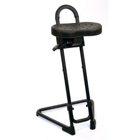 "Lyon NF2092N Industrial Sit Stand Stool, 22-3/4"" - 32-3/4"" Height"