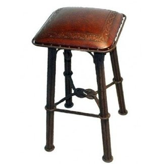 New World Trading Western Iron Counter Stool, Classic, Antique Brown