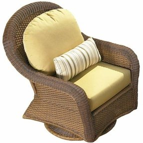 NorthCape International Montclair Resin Wicker Swivel Glider