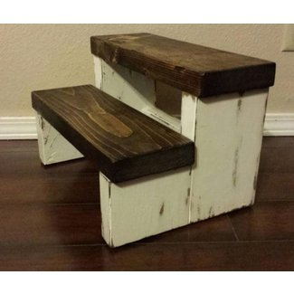 Rustic step stool wood stool farmhouse