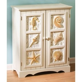Shell Two Door Cabinet,Wood,31.5x25.75x12.5 Inches