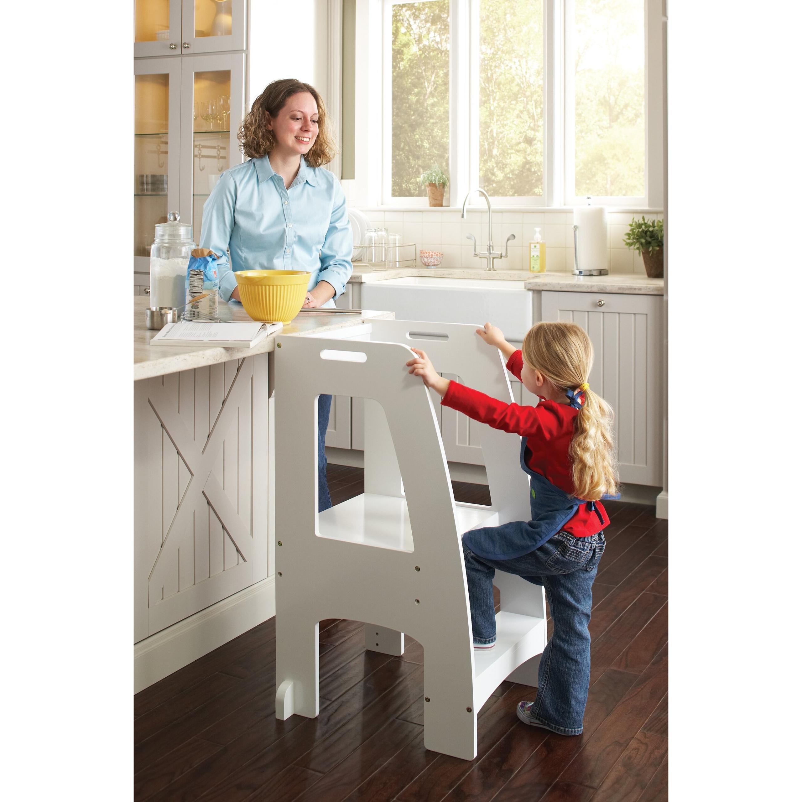 Step Up Kitchen Helper Stools, White