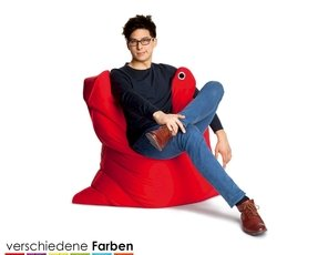 The Bull Medium Bean Bag Lounger Color: Flame Red