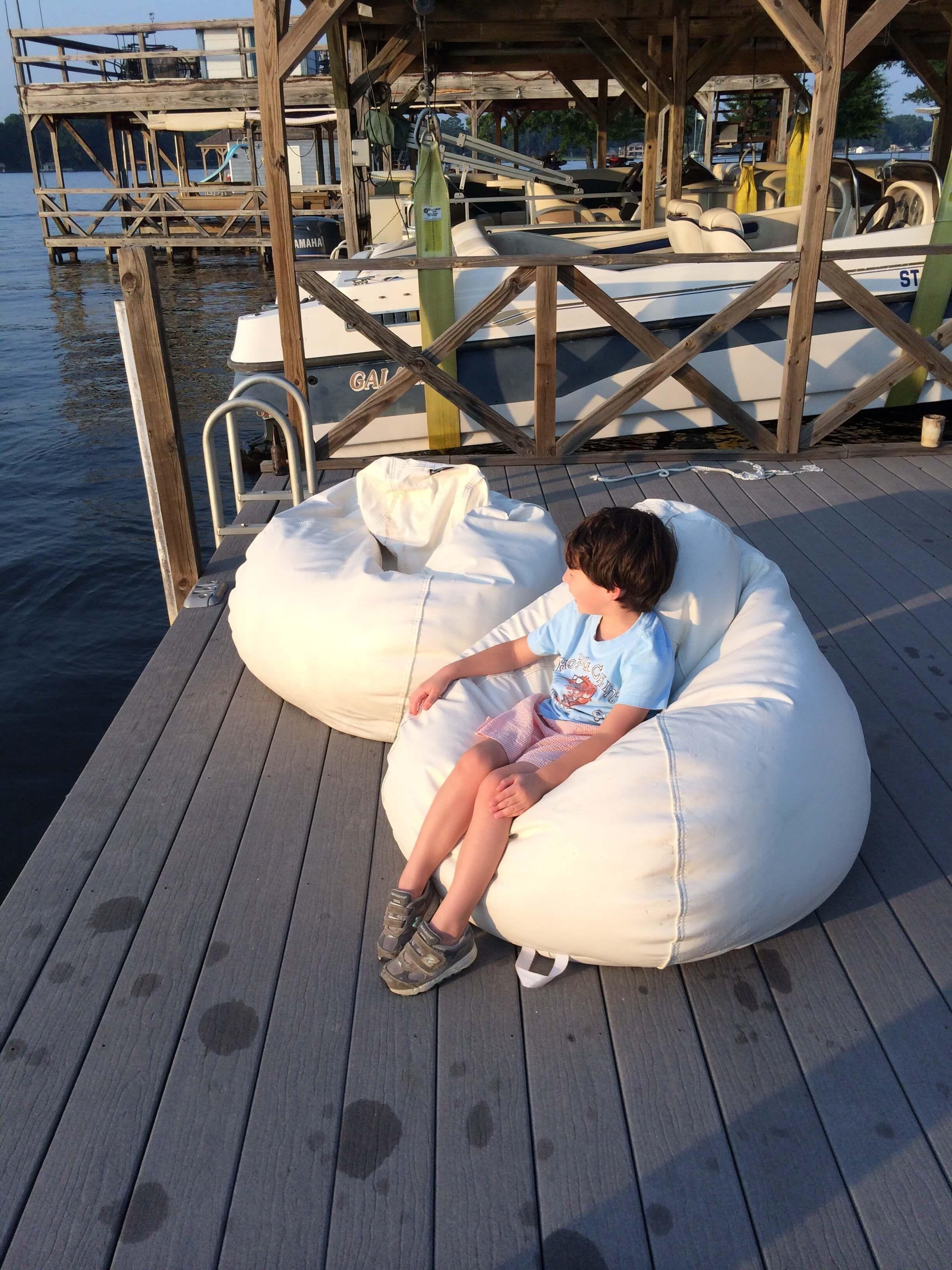 Turquoise outdoor bean bags waterproof inner case waterproof bean bag chairs