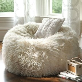 492f298ba10e White bean bags. A fluffy beanbag is so comfy and ...