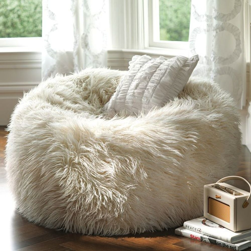 A Fluffy Beanbag Is So Comfy And Looks Fabulous. White Color Creates A  Uniquely Restful Area. Everyone Will Be Delighted How Wonderful Beanbag Is.