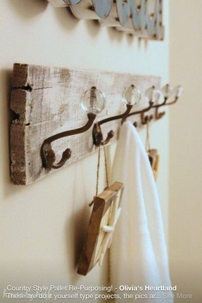 wood towel rack foter