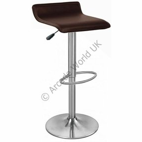 Zest brushed stainless steel padded adjustable kitchen bar stool