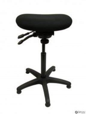 An ergonomic stool designed for sit to stand applications features
