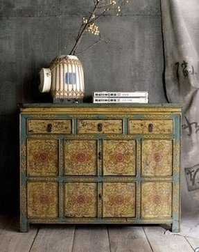 Asian cabinets foter for Old asian furniture