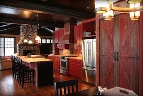 barn red kitchen cabinets cabinets foter 10930