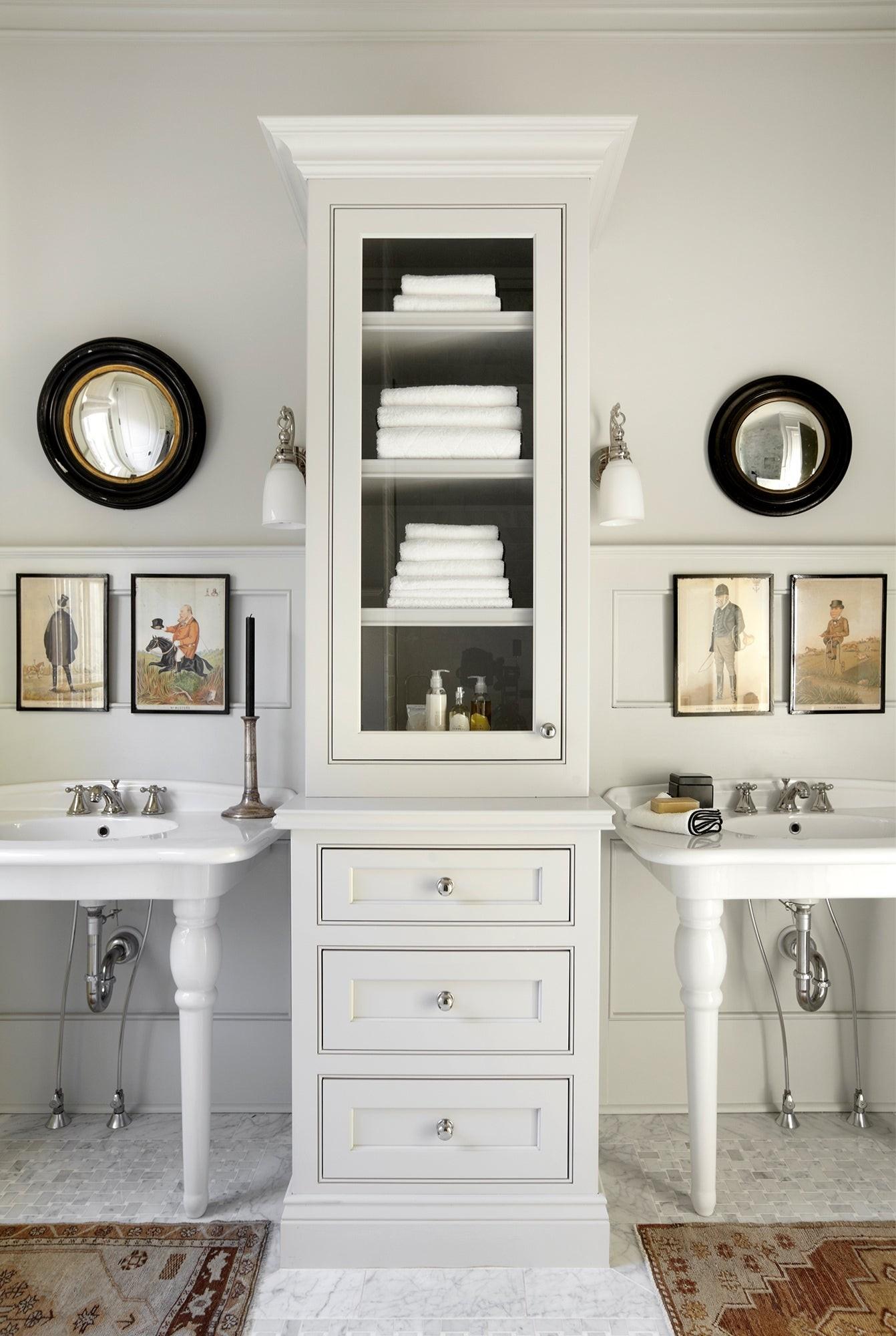 Bathroom Linen Tower 1