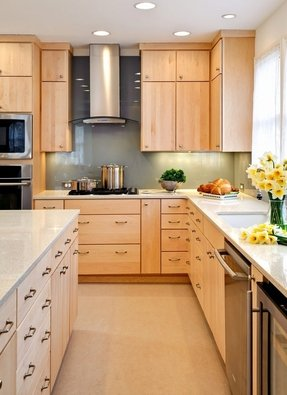 Birch cabinets kitchen