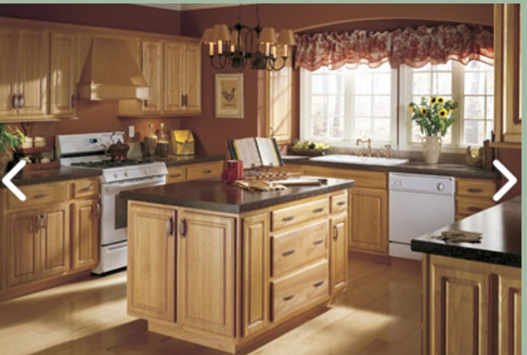Black Appliances With Oak Cabinets