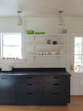 Black butcher block island 1