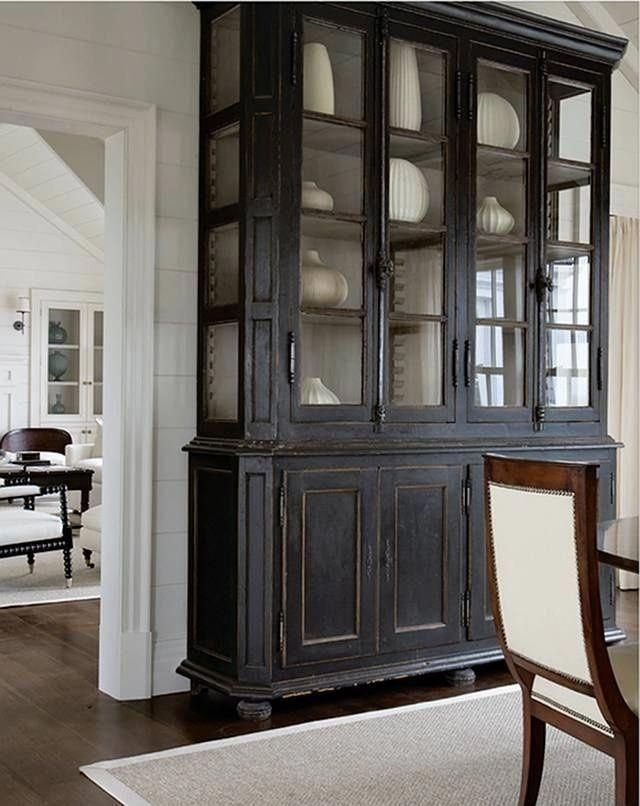 Beau This Cabinet Perfectly Matches Different Indoors Thanks To Its Neutral Black  Finish. It Also Brings Some Antique Accents Into The House.
