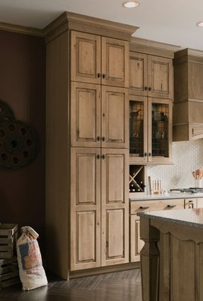 Cherry Wood Pantry Cabinet