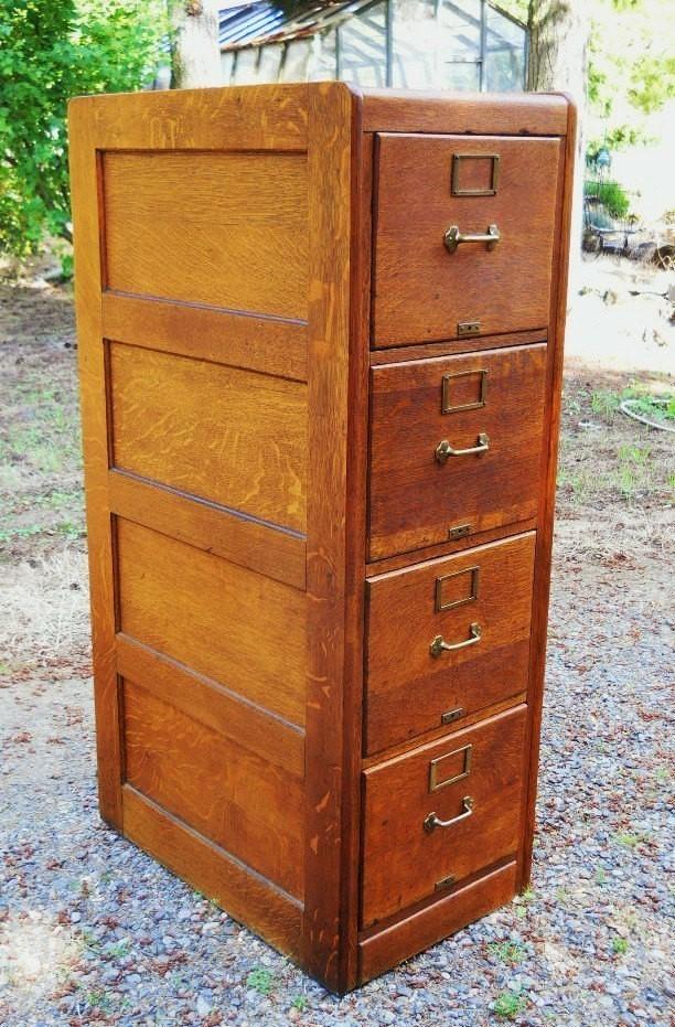 - Solid Wood Filing Cabinet - Foter