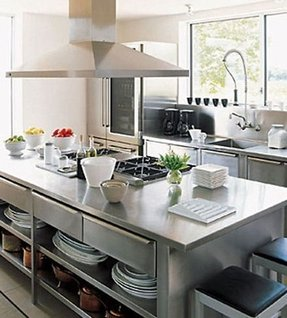Commercial kitchen island 2