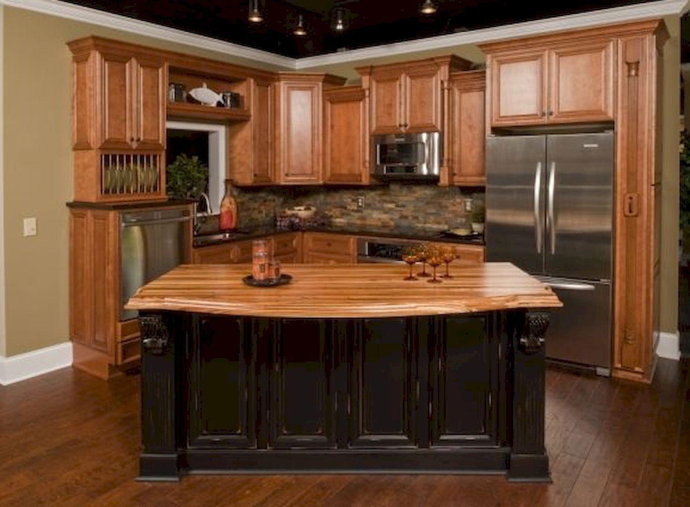 Granite Countertops On Oak Cabinets