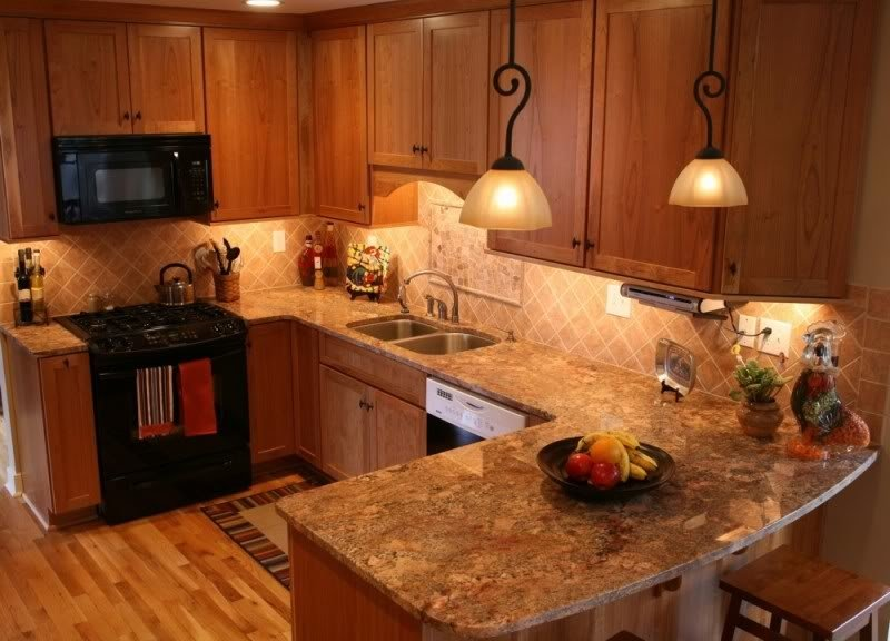 Delicieux Granite Countertops With Oak Cabinets